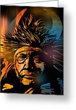Buffalo Headdress Greeting Card