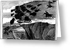 Buffalo Hunt, 1834 Greeting Card