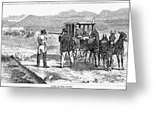 Buffalo Hunting, 1874 Greeting Card