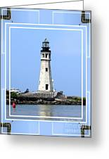Buffalo Main Lighthouse Greeting Card