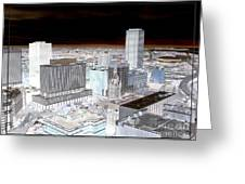 Buffalo New York Aerial View Inverted Effect Greeting Card by Rose Santuci-Sofranko