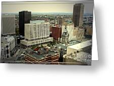 Buffalo New York Aerial View Greeting Card