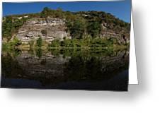 Buffalo River Bend Panorama Greeting Card