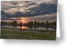 Buffalo Sunset 14390 Greeting Card