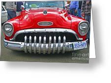 Buick With Teeth Greeting Card