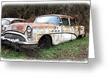 Buick Yard Greeting Card by Steve McKinzie