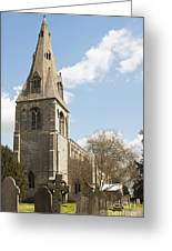 Building Church St Peters North Rauceby Linconshire Greeting Card