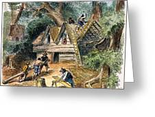 Building Houses, 17th C Greeting Card