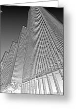 Building In Monochrome Greeting Card