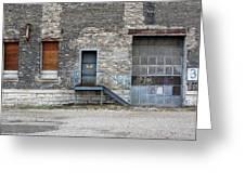 Building No.3 Garage Door Greeting Card