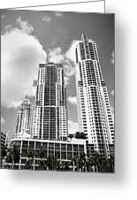 Buildings Downtown Miami Greeting Card