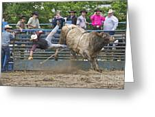 Bull 1 - Rider 0 Greeting Card