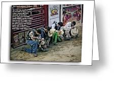 Bull Riders Prayer - With Prayer Text Greeting Card