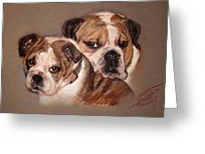 Bulldogs Greeting Card