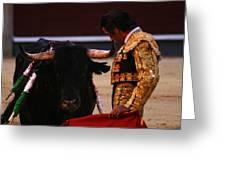 Bullfight Madrid Greeting Card
