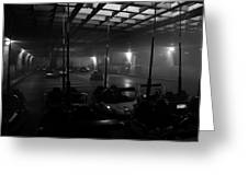 Bumper Cars In Fog Greeting Card