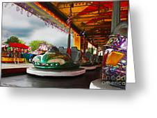 Bumper Cars Greeting Card