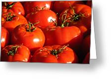 Bunch Of Tomatoes Greeting Card