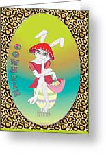 Bunnie Girls- Cowhrie- 3 Of 4 Greeting Card by Brenda Dulan Moore