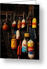 Buoys On Fishing Shack - Greeting Card Greeting Card