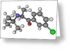 Bupropion Antidepressant Drug Molecule Greeting Card by Laguna Design