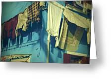 Burano - Laundry Greeting Card by Joana Kruse