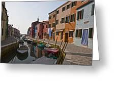 Burano - Venice - Italy Greeting Card