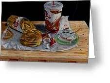 Burger King Value Meal No. 1 Greeting Card