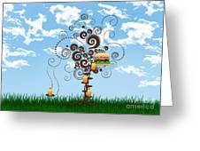 Burger Tree House And The Cupcake Kids  Greeting Card