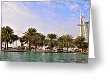 Burj Al Arab Dubai Uae Greeting Card by Anusha Hewage