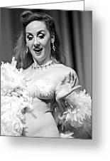 Burlesque Beauty Greeting Card