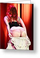 Burlesque Tease Greeting Card