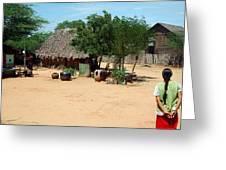 Burma Small Village Greeting Card