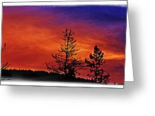 Burning Sunrise Greeting Card