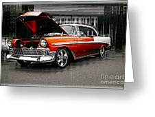 Burnt Orange Chevy Abstract Greeting Card