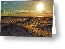Burnt Orange Sunrise Greeting Card