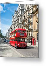 Bus On Piccadilly Greeting Card