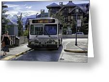 Bus To East Vail - Colorado Greeting Card