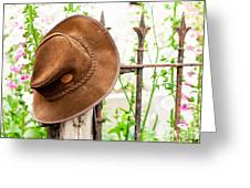 Bush Hat On Railing Greeting Card