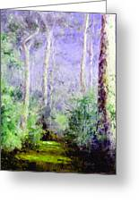 Bush Trail At The Afternoon Greeting Card