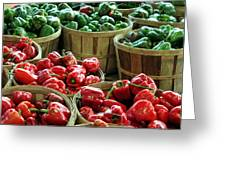 Bushels Of Green And Red Greeting Card