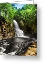Bushkill Waterfalls Greeting Card