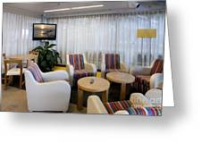 Business Lounge At An Airport Greeting Card by Jaak Nilson