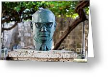 Bust Of Carlos Lleras Restrepo In Cartagena De Indias Colombia Greeting Card