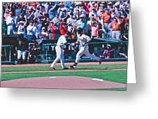 Buster Posey Runs Home Greeting Card