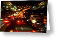 Busy Highway Greeting Card by Carlos Caetano