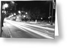 Busy Night On Peachtree _ Atlanta Greeting Card