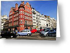 Busy Street Corner In London Greeting Card