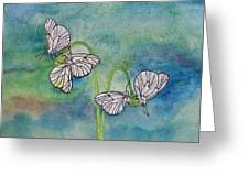 Butterflies Hanging Out Greeting Card