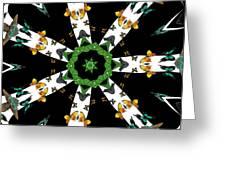 Butterflies Mania Kaleidoscope Greeting Card